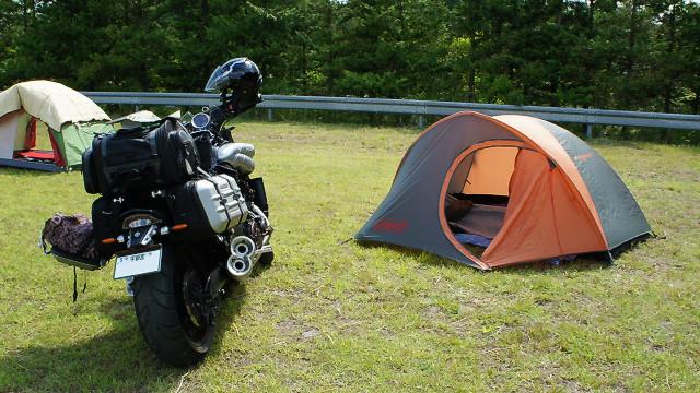VMAX1700でキャンプ